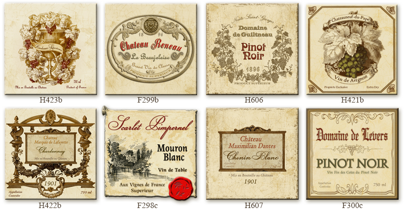 French Wine CountryVintage French Wine Labels